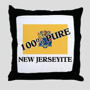 100 Percent New Jerseyite Throw Pillow
