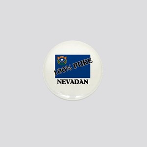 100 Percent Nevadan Mini Button