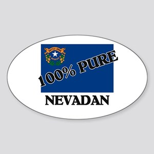 100 Percent Nevadan Oval Sticker