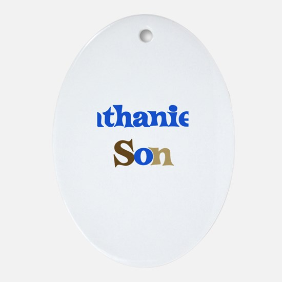 Nathaniel's Son Oval Ornament