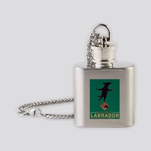 Labrador Brand - Black Lab Flask Necklace