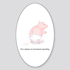 Diaper Incontinent Spending Oval Sticker