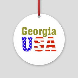 Georgia USA Ornament (Round)