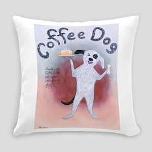 Coffee Dog Everyday Pillow