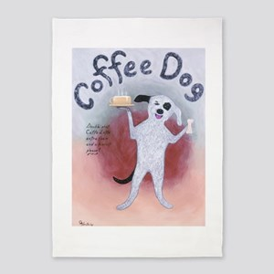 Coffee Dog 5'x7'Area Rug