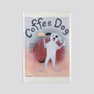 Coffee Dog Rectangle Magnet