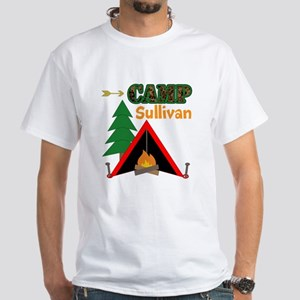 Tent Campfire Camping Name T-Shirt