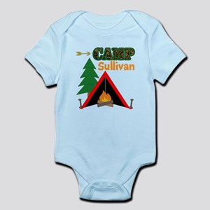 Tent Campfire Camping Name Body Suit