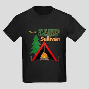 Tent Campfire Camping Name T-Shirt