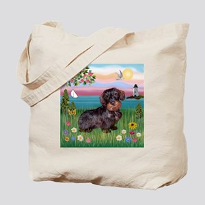 Lighthouse / Dachshund Tote Bag