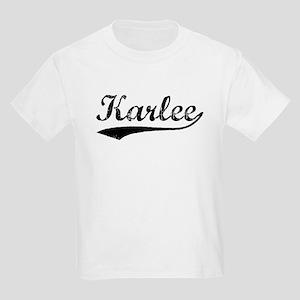 Vintage Karlee (Black) Kids Light T-Shirt