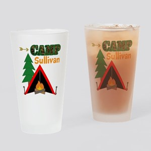 Tent Campfire Camping Name Drinking Glass