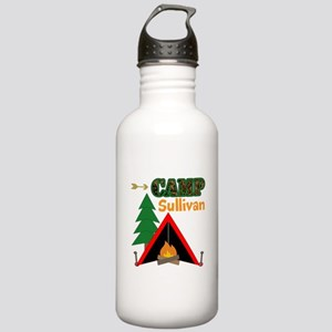 Tent Campfire Camping Name Water Bottle