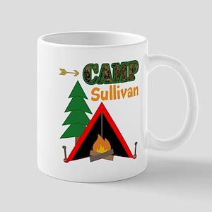 Tent Campfire Camping Name Mugs