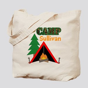 Tent Campfire Camping Name Tote Bag