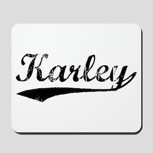 Vintage Karley (Black) Mousepad