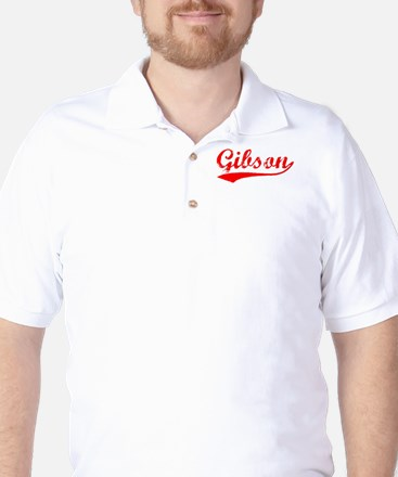 Vintage Gibson (Red) Golf Shirt