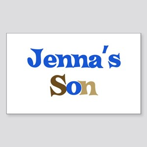 Jenna's Son Rectangle Sticker