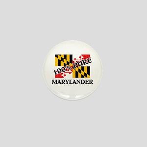 100 Percent Marylander Mini Button