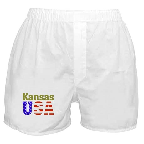 Kansas USA Boxer Shorts