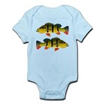 Peacock bass Body Suit