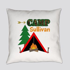 Tent Campfire Camping Name Everyday Pillow
