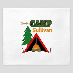 Tent Campfire Camping Name King Duvet