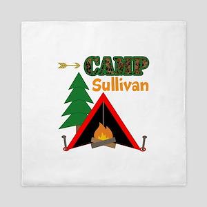 Tent Campfire Camping Name Queen Duvet
