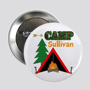 """Tent Campfire Camping Name 2.25"""" Button (10 pack)"""