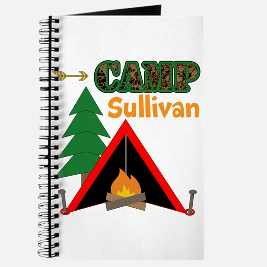 Tent Campfire Camping Name Journal