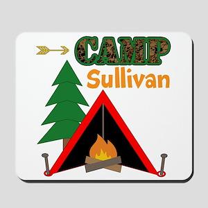 Tent Campfire Camping Name Mousepad