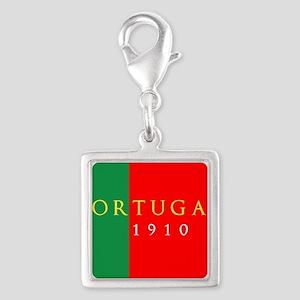 Portugal 1910 Silver Square Charm