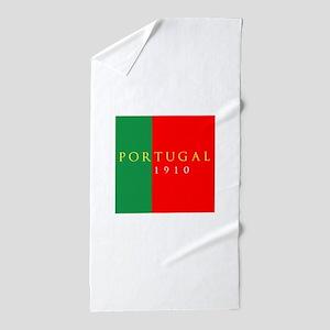 Portugal 1910 Beach Towel