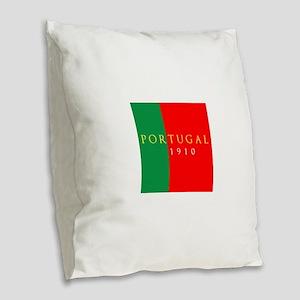 Portugal 1910 Burlap Throw Pillow