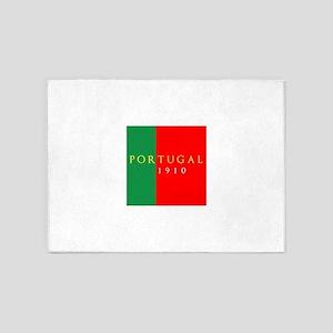 Portugal 1910 5'x7'Area Rug