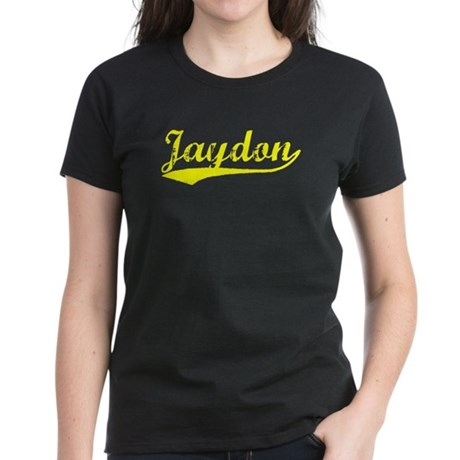 Vintage Jaydon (Gold) Women's Dark T-Shirt