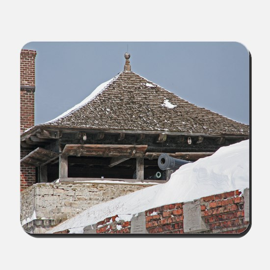 Old Fort Niagara Guardhouse In Winter Mousepad