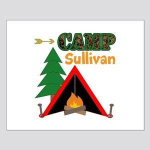 Tent Campfire Camping Name Posters