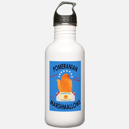 Pomeranian Marshmallow Sports Water Bottle