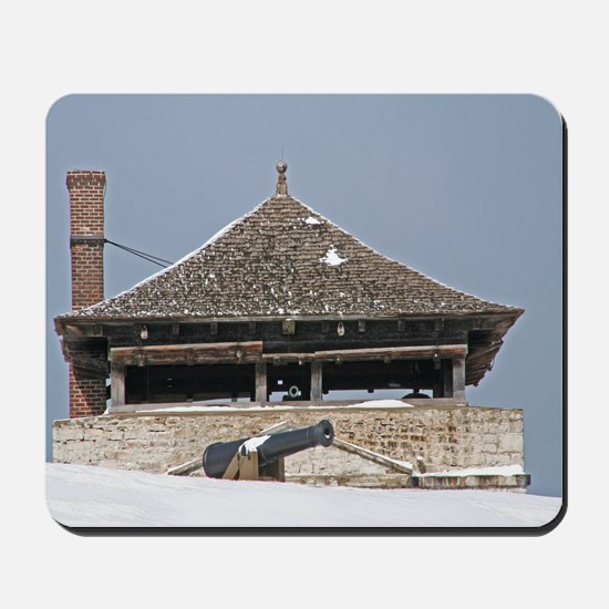 Historic Guard Tower And Cannon Mousepad