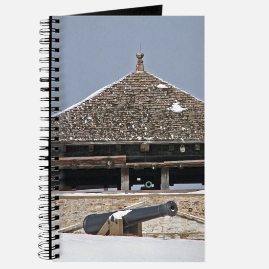 Historic Guard Tower And Cannon Journal