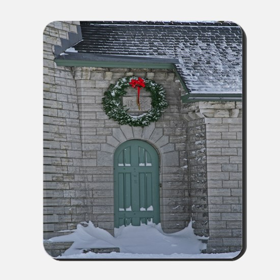 A Lighthouse Christmas Mousepad