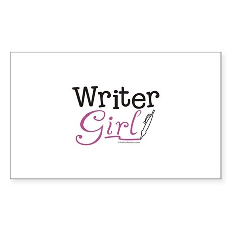Writer Girl Rectangle Sticker