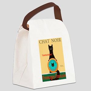 Chat Noir II (Black Cat) Canvas Lunch Bag
