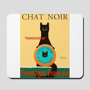 Chat Noir II (Black Cat) Mousepad