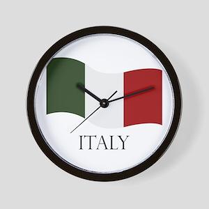 Italy flag Wall Clock