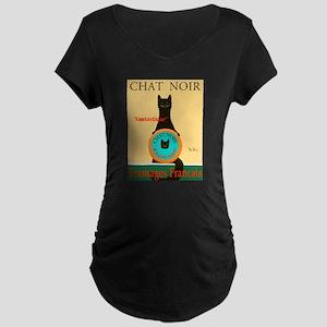 Chat Noir II (Black Cat) Maternity Dark T-Shirt