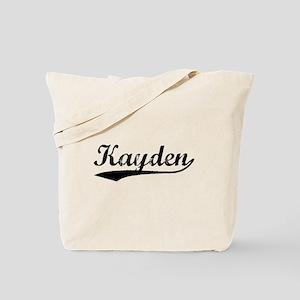 Vintage Kayden (Black) Tote Bag
