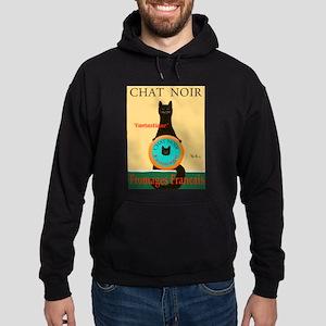 Chat Noir II (Black Cat) Hoodie (dark)