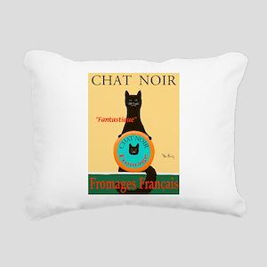 Chat Noir II (Black Cat) Rectangular Canvas Pillow